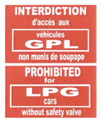 Consigne interdiction de GPL